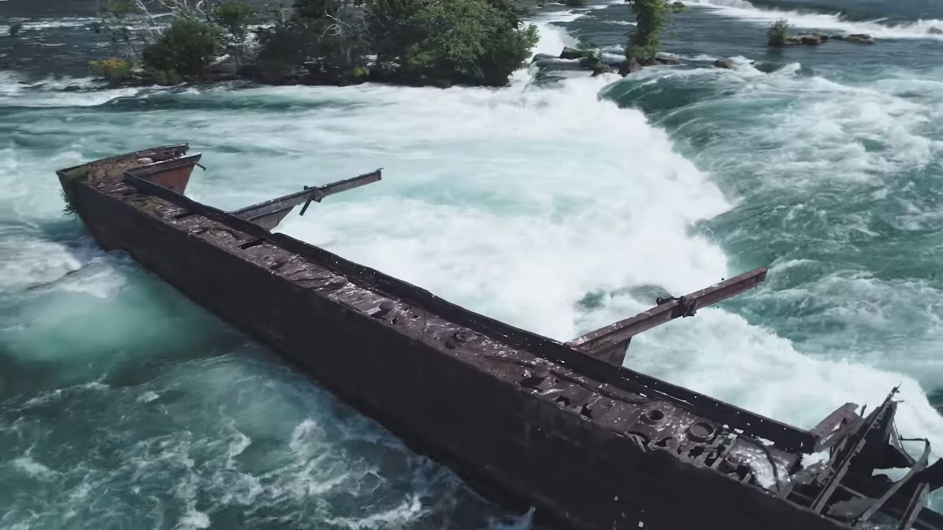 A Powerful Storm Dislodged a Cargo Ship That's Been Stuck on Niagara Falls for 101 Years