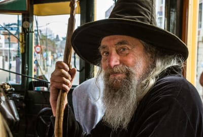 In Christchurch, New Zealand, wizards ride buses, not brooms.
