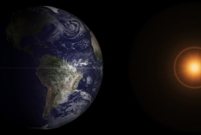 An image of the March equinox taken by the GOES-13 satellite in 2013.