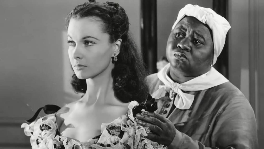 Vivien Leigh and Hattie McDaniel in Gone With the Wind (1939).