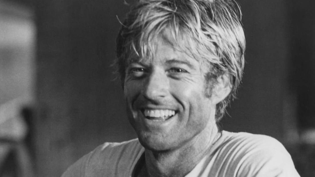 Robert Redford, smiling that smile of his.