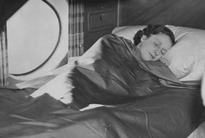 A sleeping berth on an Imperial Airways aircraft in 1937.