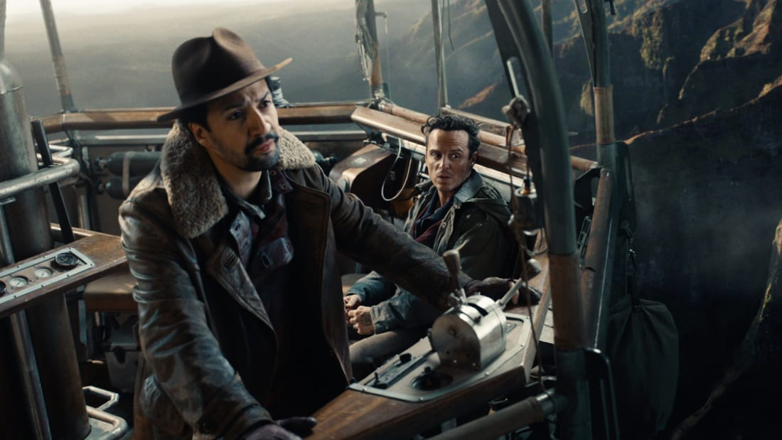 Lin-Manuel Miranda and Andrew Scott star in His Dark Materials.