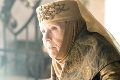 Diana Rigg as Lady Olenna Tyrell on Game of Thrones.