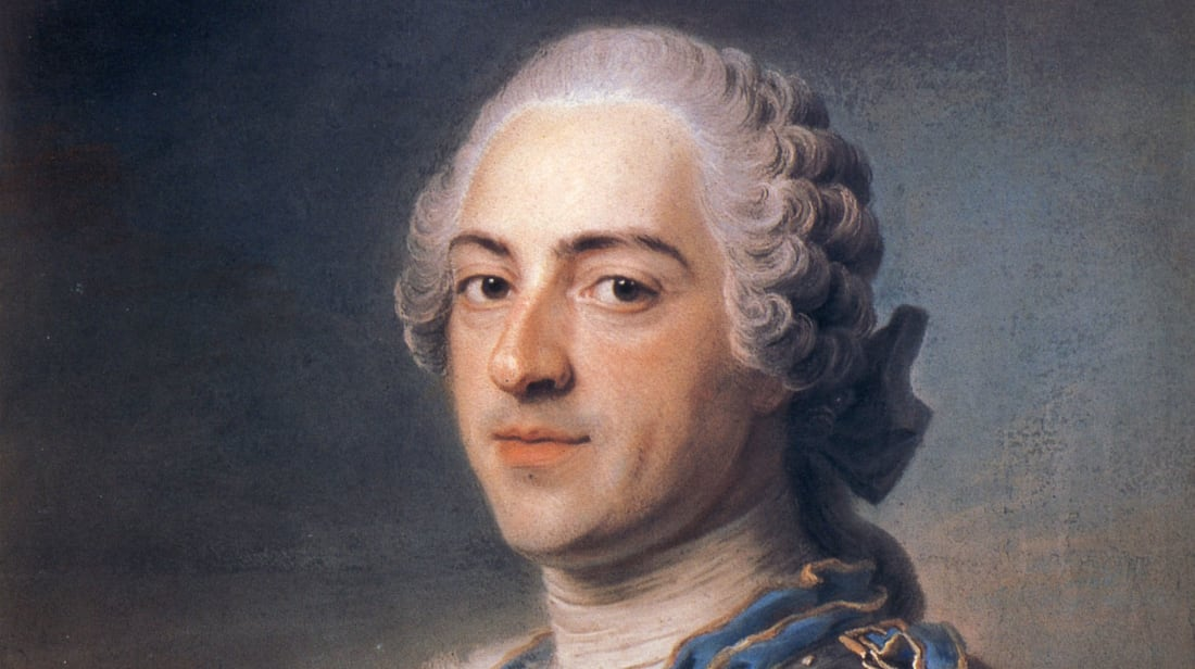A portrait of Louis XV of France