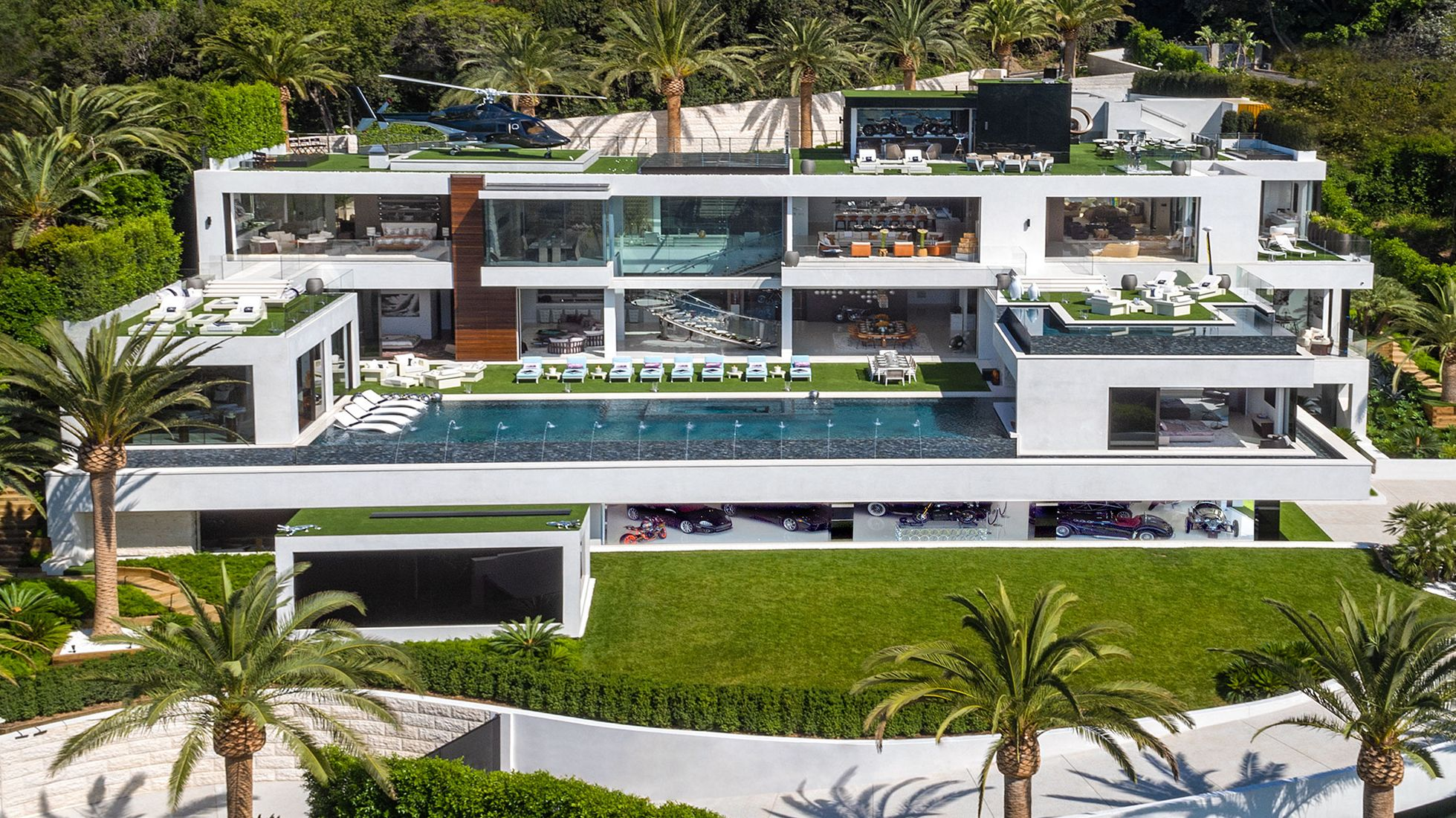For 188 million you could live in this bel air mansion fully stocked with wine candy and luxury cars