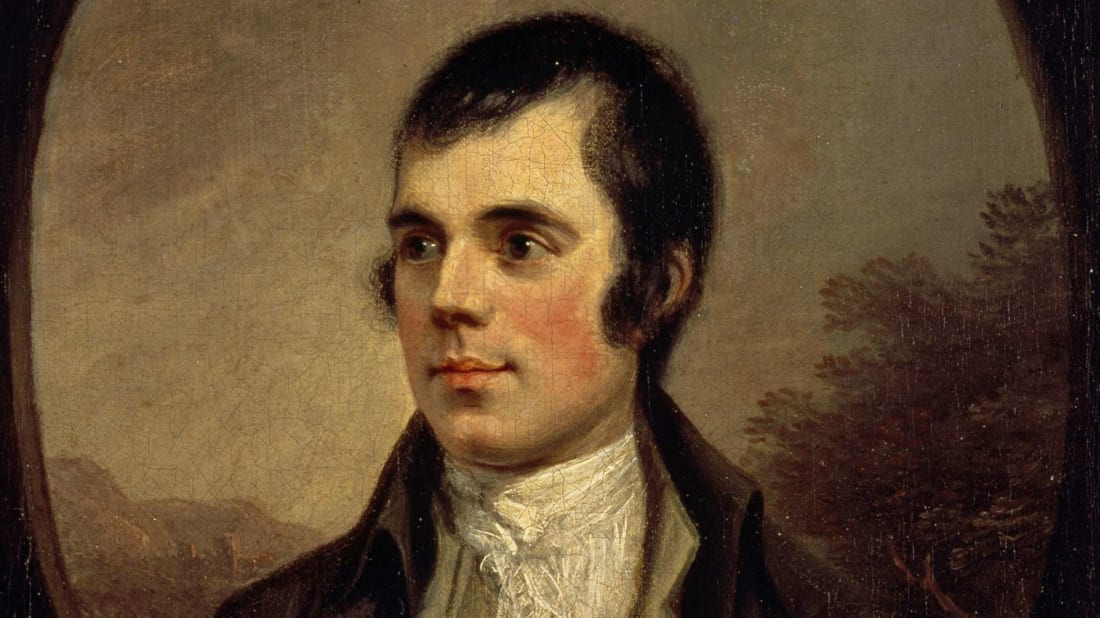 Portrait of Robert Burns, painted by Alexander Nasmyth.