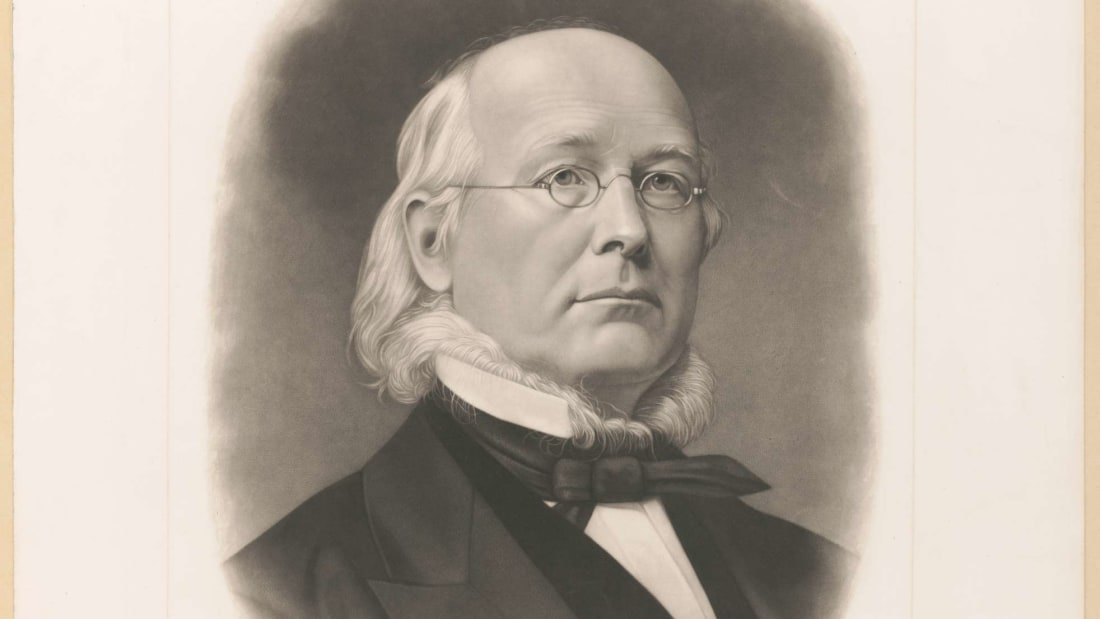 A portrait of Horace Greeley engraved by Adam B. Walter.