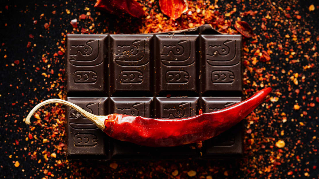 Crushed chili peppers are the backbone of chili crisp. But did you know this spicy condiment pairs perfectly with chocolate?