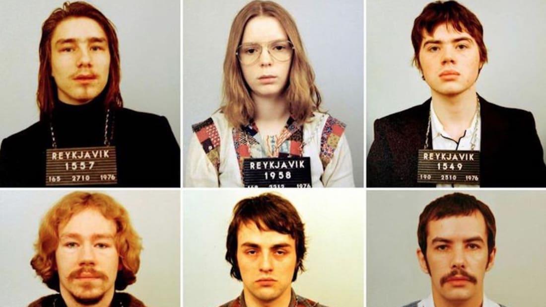 Erla Bolladóttir, Saevar Ciesiekski, Kristjan Vídarsson, Tryggvi Leifsson, Guðjón Skarphéðinsson, and Albert Skaftason in Out of Thin Air (2017).