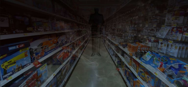 According to one medium, the toy store was haunted by the spirit of a lovelorn farmhand.