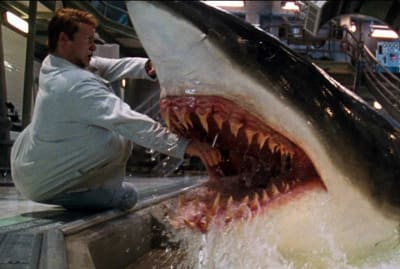 Stellan Skarsgård's got nothing on the super-smart sharks in Deep Blue Sea (1999).