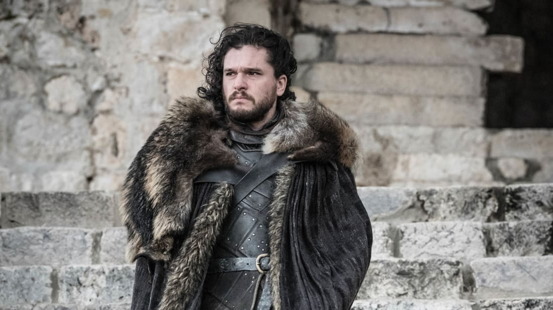 Kit Harington as Jon Snow in the series finale of Game of Thrones