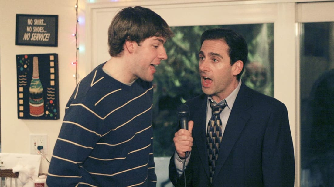 John Krasinski and Steve Carell in The Office.