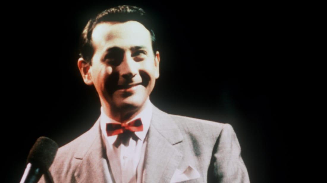 Paul Reubens in character as Pee-wee Herman.