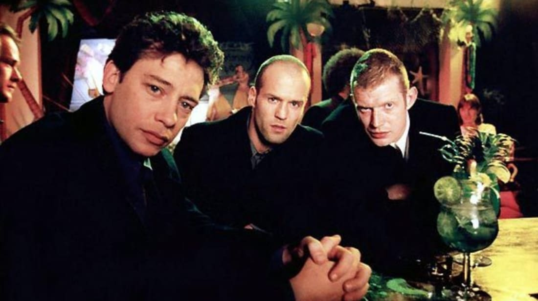 Jason Flemyng, Dexter Fletcher, and Jason Statham in 'Lock, Stock and Two Smoking Barrels' (1998)