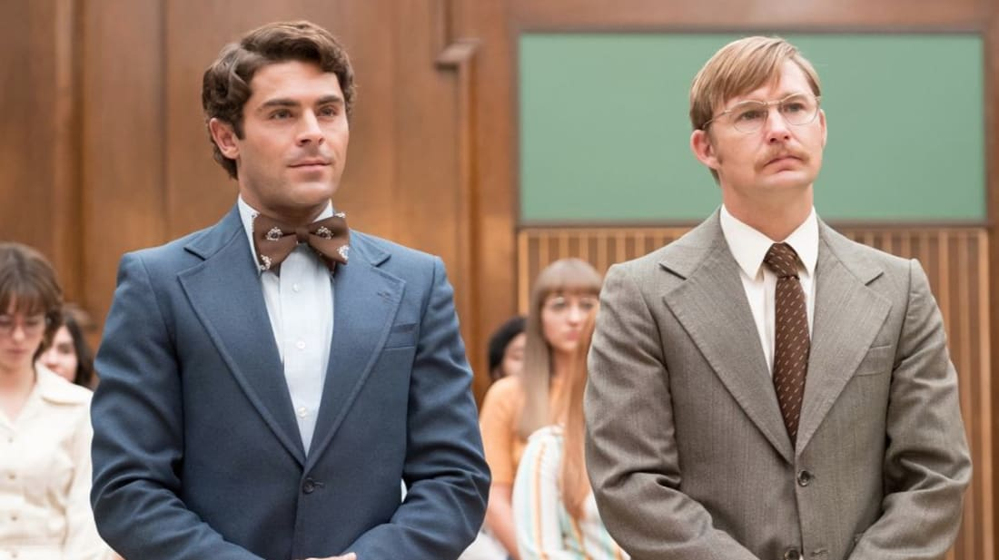 Zac Efron and Brian Geraghty in Extremely Wicked, Shockingly Evil and Vile (2019)