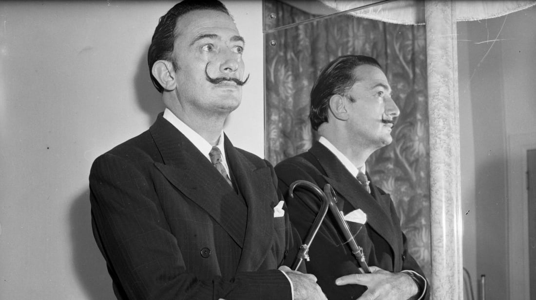 Artist Salvador Dalí, pictured in December 1951.