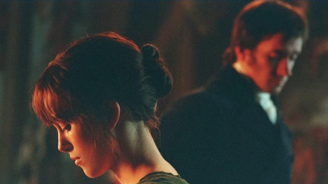 Keira Knightley and Matthew Macfadyen in Pride & Prejudice (2005).