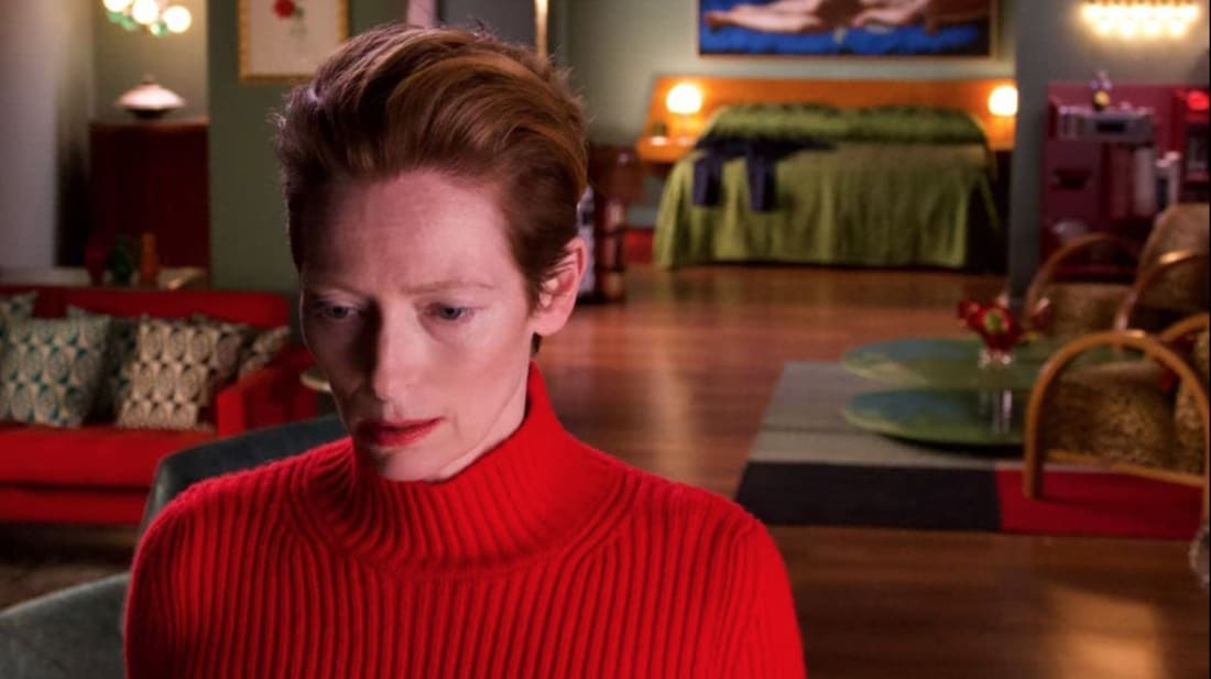 Tilda Swinton in Pedro Almodóvar's The Human Voice (2020).