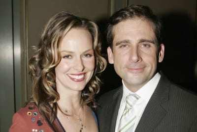 Melora Hardin and Steve Carell in 2006.