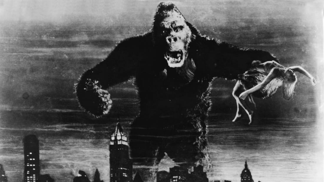 A scene from King Kong (1933).