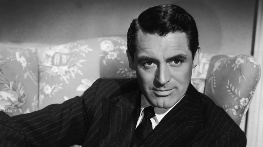 Cary Grant is pictured in a publicity photo circa the 1940s.