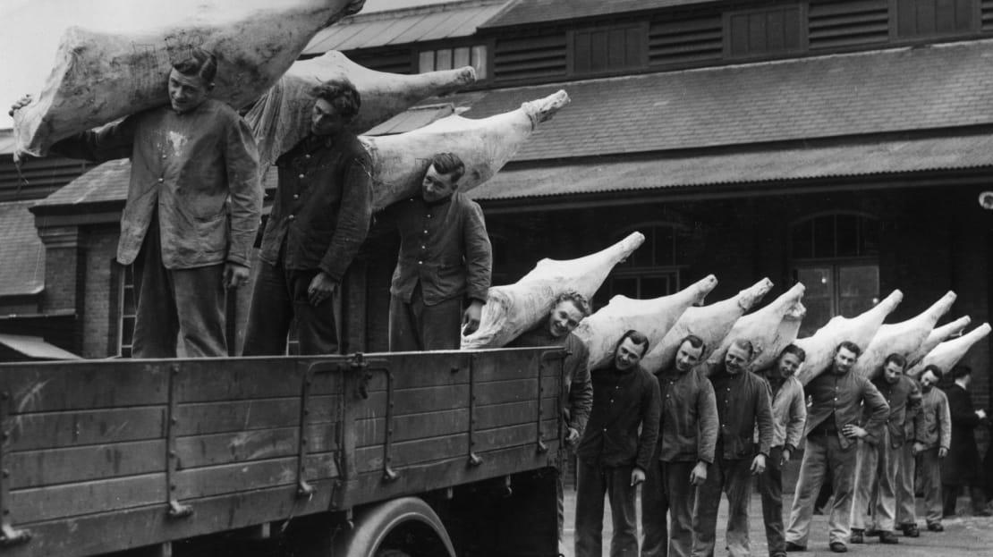 Beef was in short supply during World War II.