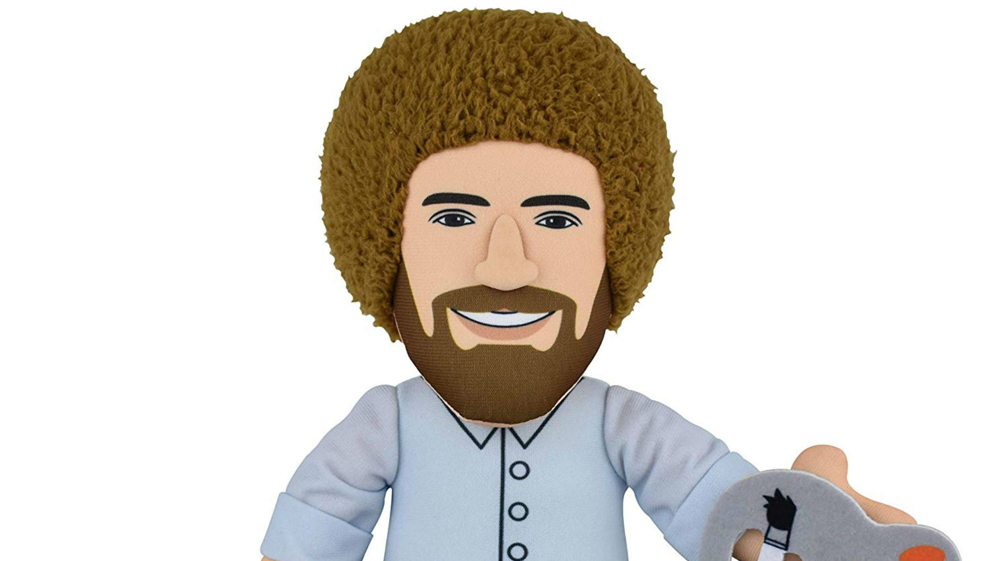 Happy Little Squeeze: Cuddle Up With This Bob Ross Plush