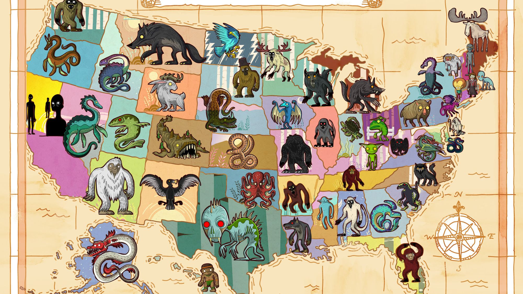 Famous Mythical Creatures By State Mental Floss