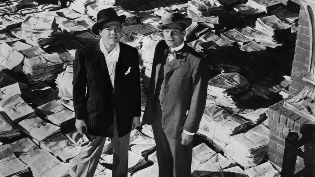 Orson Welles (L) and Joseph Cotten (R) in 1941's Citizen Kane.
