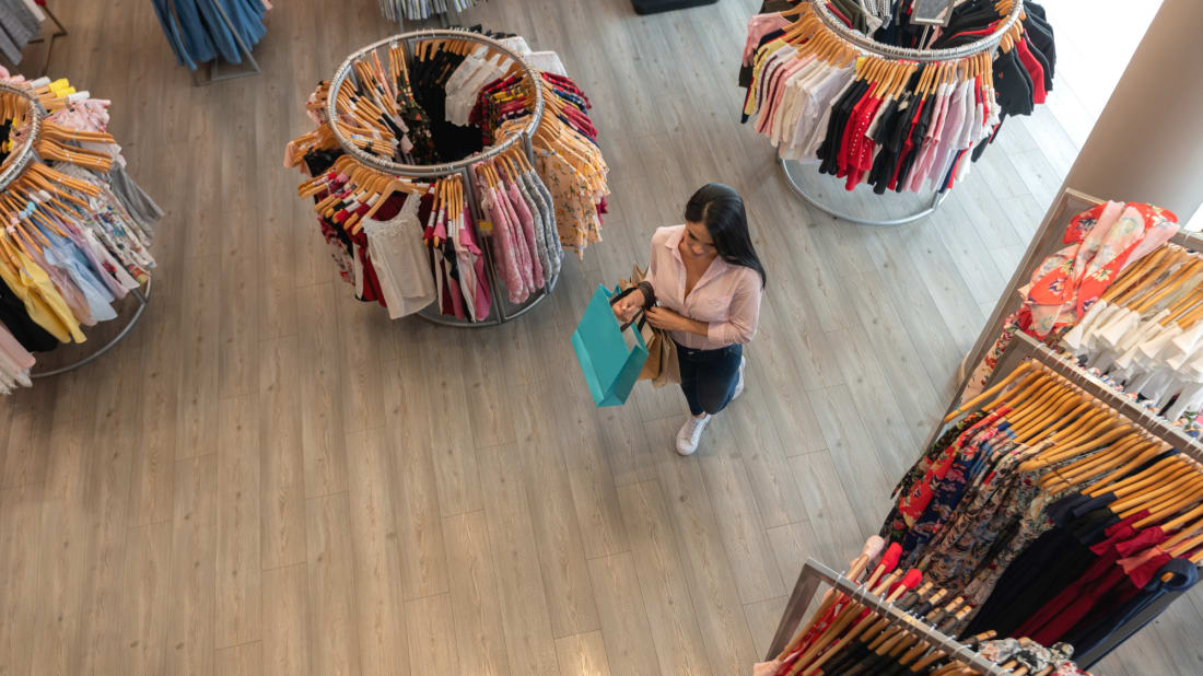 Retail stores want to give you plenty of overhead space. There's a scientific reason why.