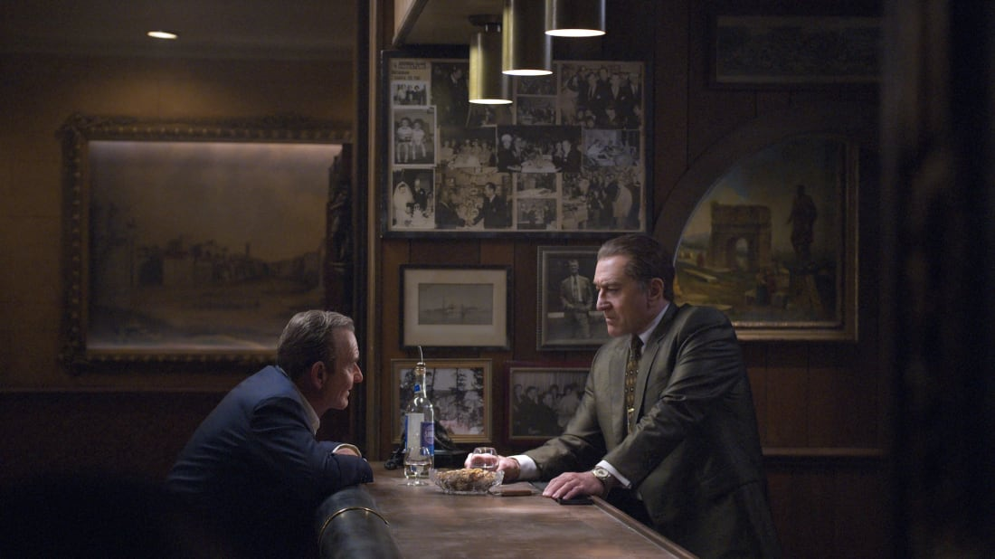 Joe Pesci and Robert De Niro star in Martin Scorsese's The Irishman (2019).