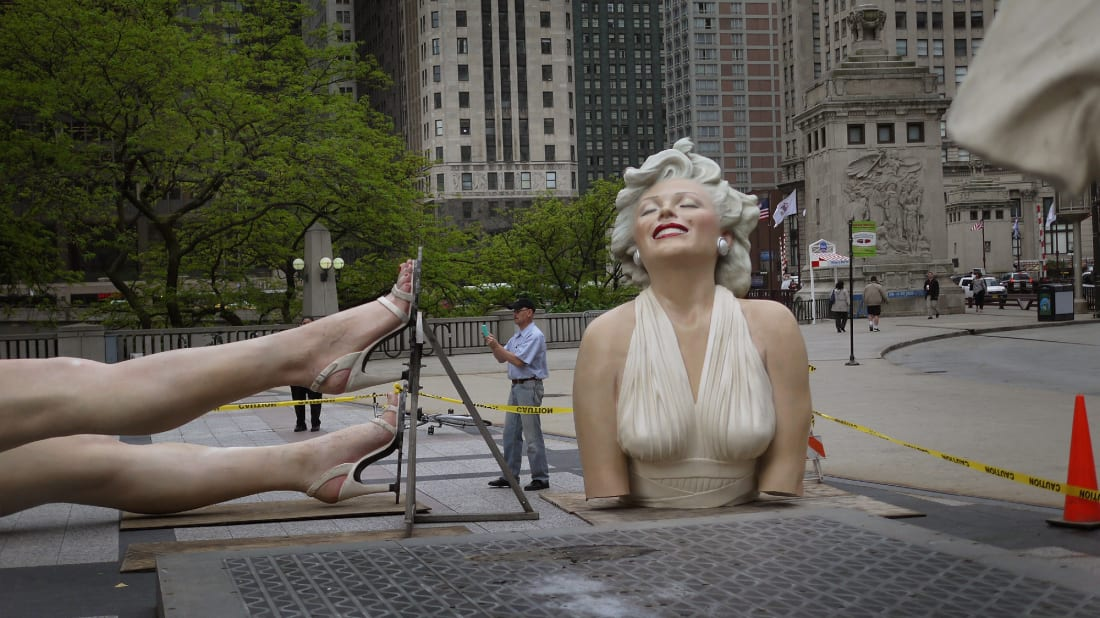 This Marilyn Monroe sculpture has raised eyebrows.