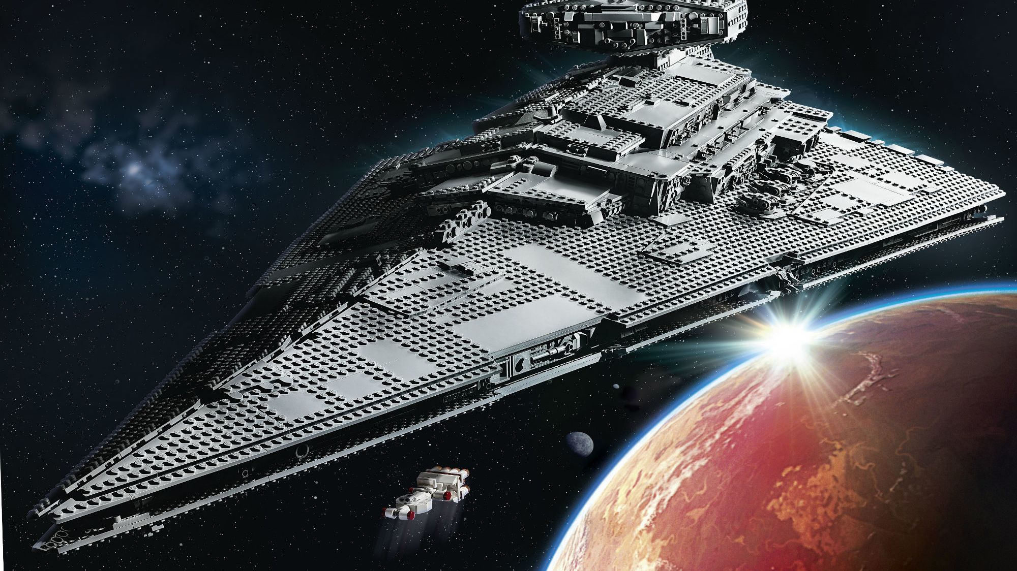 This Massive LEGO Star Wars Star Destroyer Is Nearly 4 Feet Long