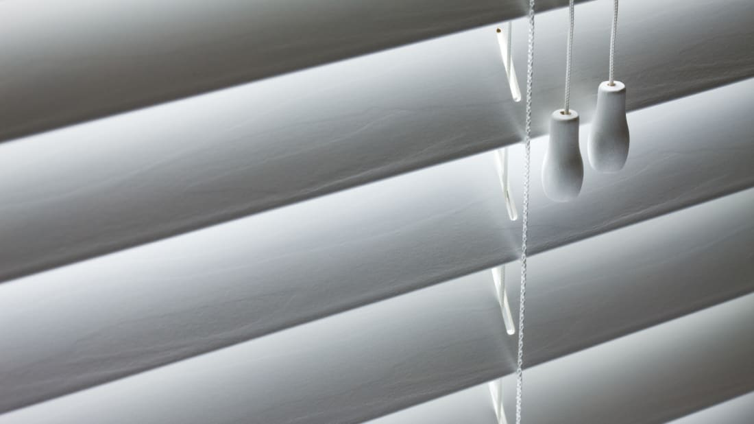 Window blinds are usually seen facing down--just how your neighborhood Peeping Tom likes it.