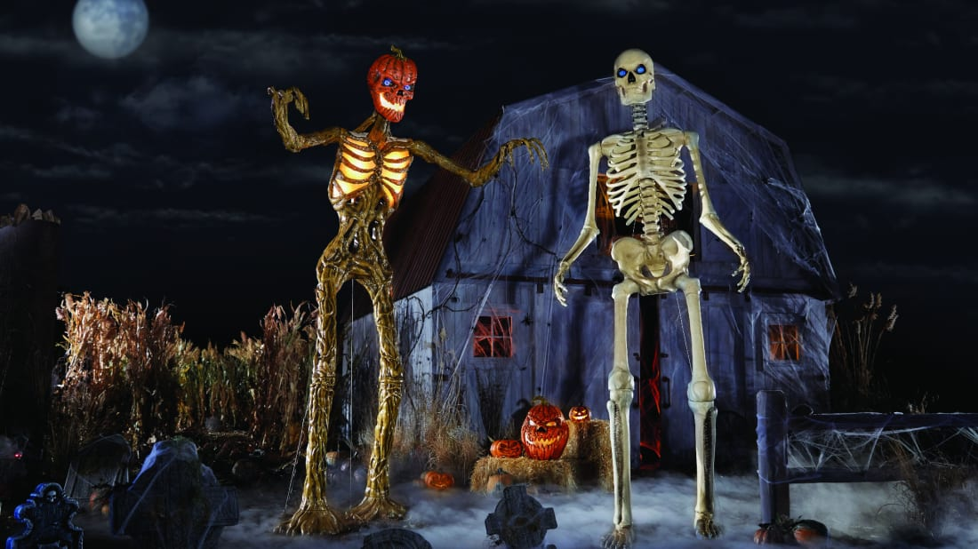 Home Depot's 12-foot-tall skeletons have become a precious commodity.