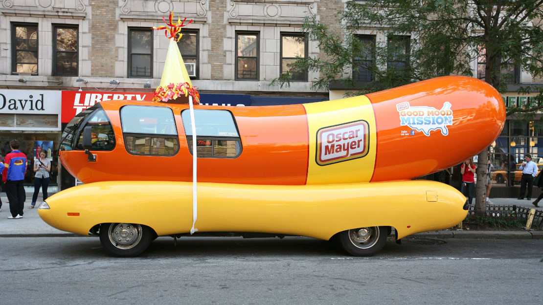 The Wienermobile is here for all of your nuptial needs.