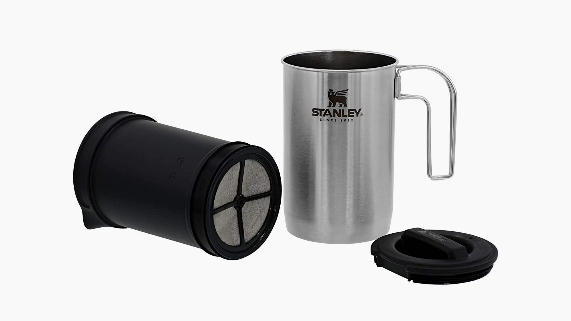 Brew Great Coffee on Your Next Camping Trip With This Stainless-Steel French Press
