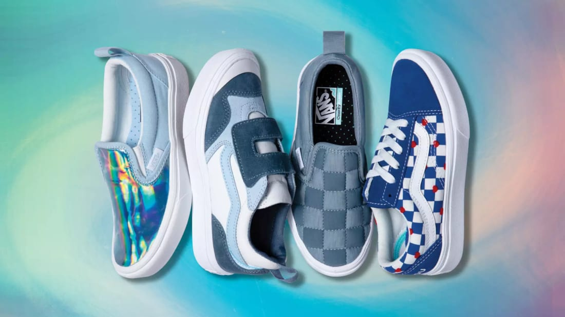 Vans's new autism awareness collection of slip-on sneakers.
