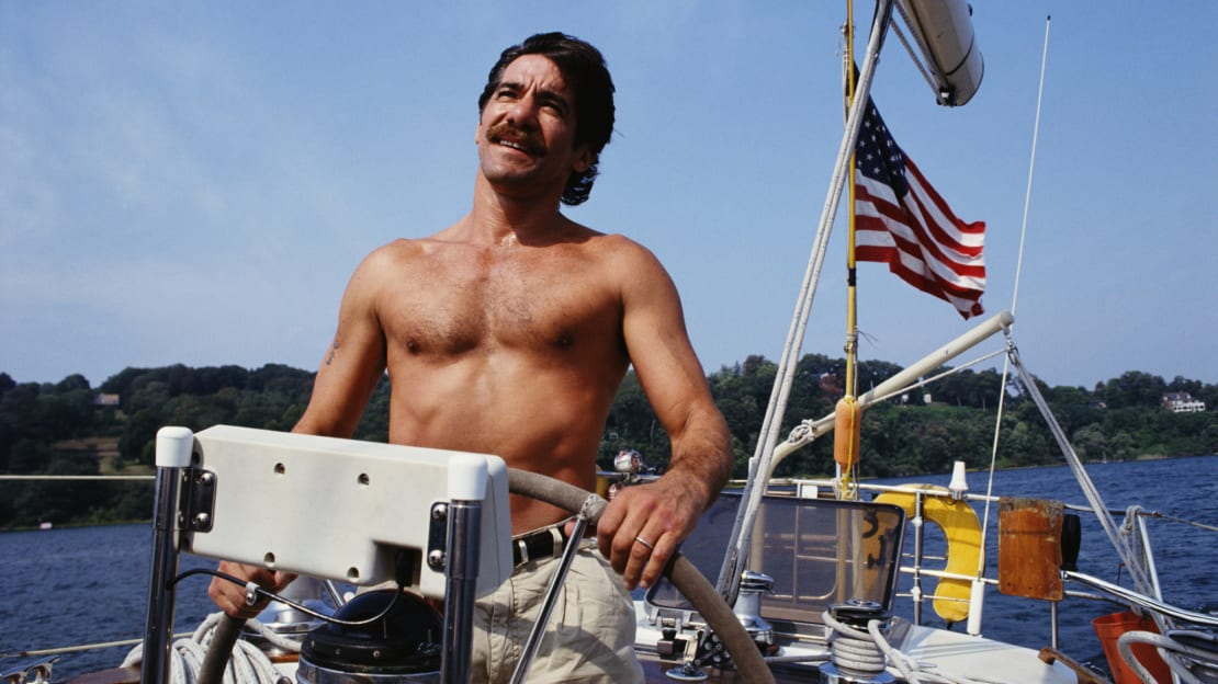 Geraldo Rivera courted controversy with his talk show. He also enjoyed boating.