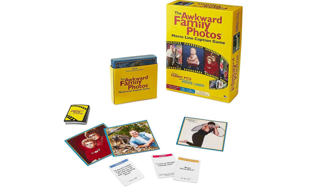 The Awkward Family Photos Movie Line Caption Game is on sale at UncommonGoods.