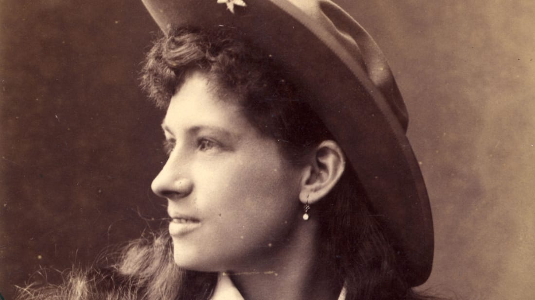Annie Oakley was a skilled trick shooter with the Buffalo Bill Wild West Show.