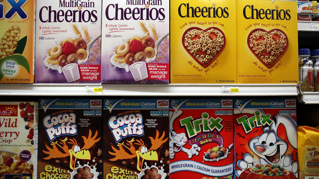 Cereal boxes are shrinking.