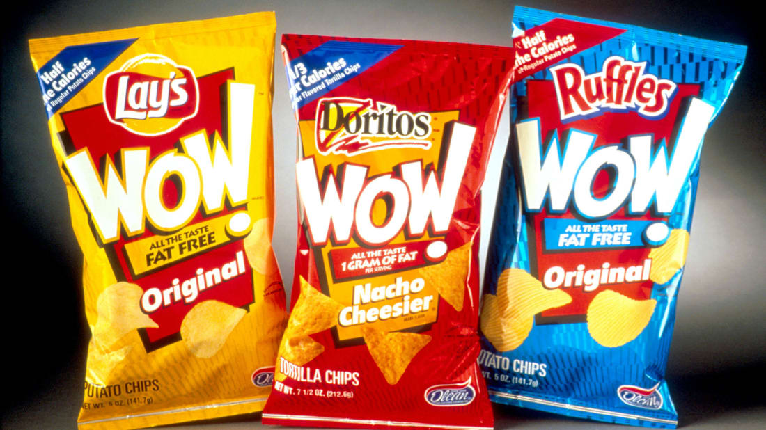 Consumers could go through bags of Frito-Lay's fat-free chips. Then the bag would go right through them.