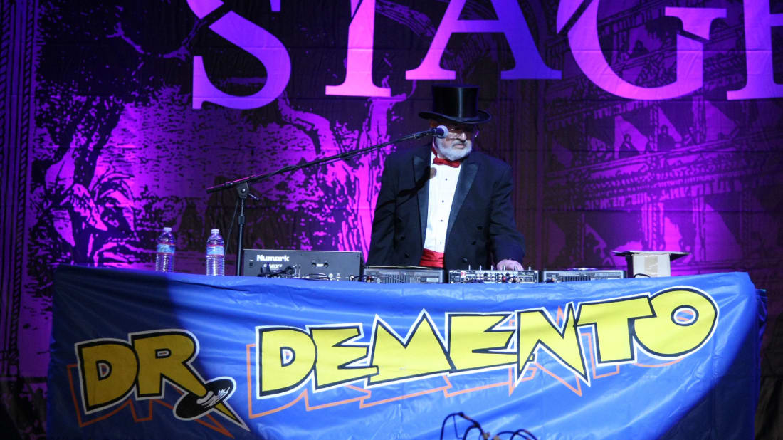 Dr. Demento makes a live appearance in Los Angeles in 2014.