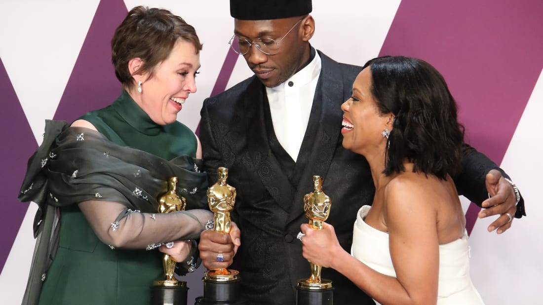 Olivia Colman, Mahershala Ali, and Regina King celebrate their Oscar wins at the 91st Annual Academy Awards in 2019.
