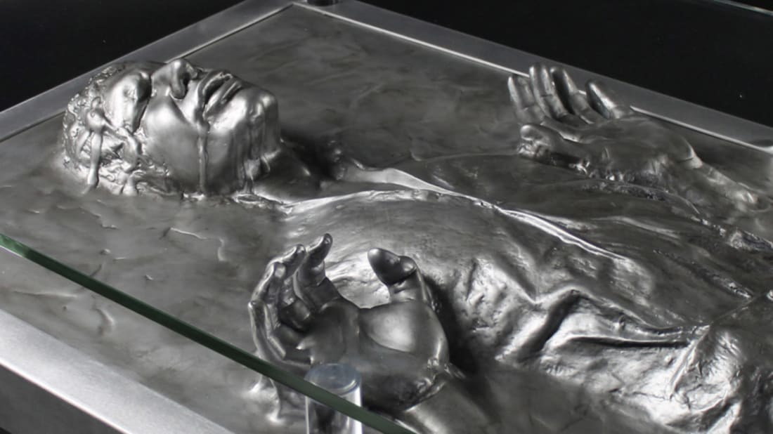 Star Wars fans can up their decorating game with this life-sized nod to Han Solo.