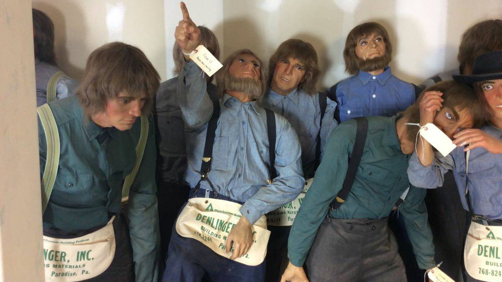 This Set of 40 Life-Size Amish Wax Figures Could Be Yours
