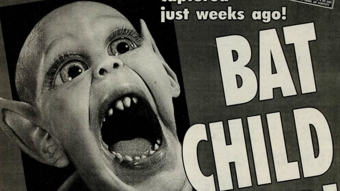 Popular Weekly World News cover monster Bat Boy.